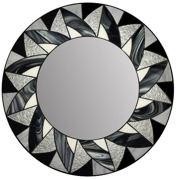 Espejo de mosaico de vidrio