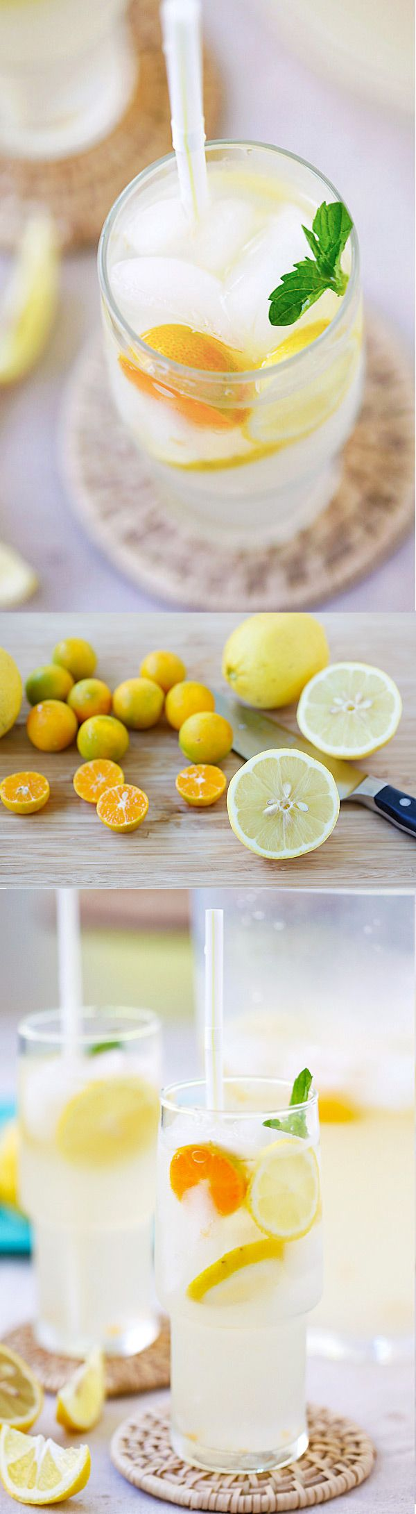 made with coconut water and fresh lemon juice.