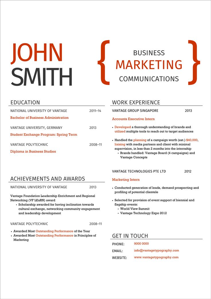 8 best Resume Concepts images on Pinterest Job resume, Herbs and - classic resume design