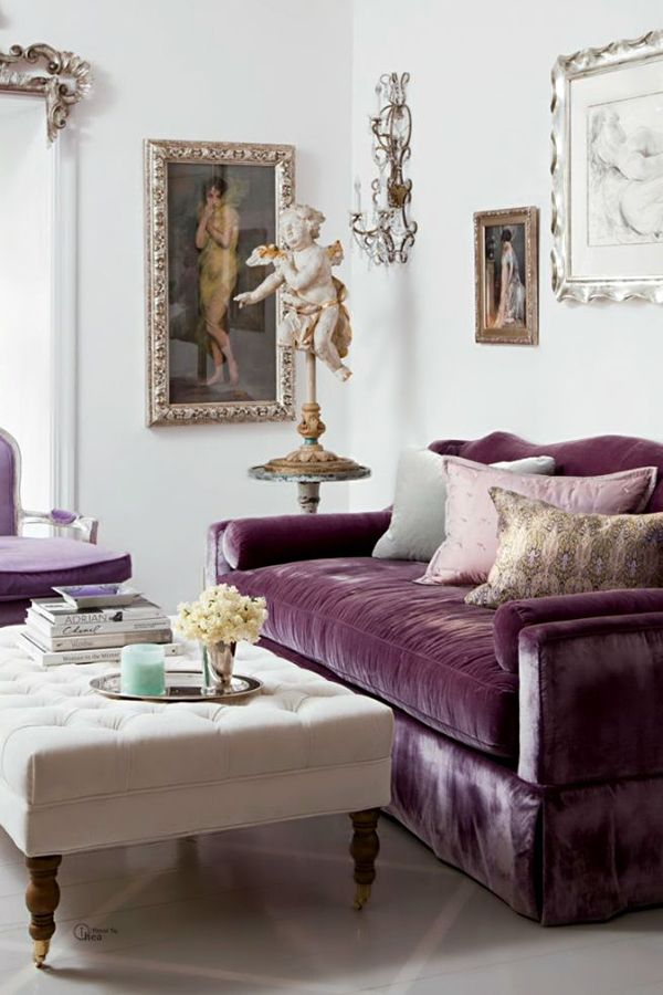 vila design the purple sofa livings pillows living throw lover designs home in engrossing room couch
