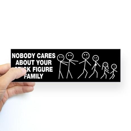 Anti stick figure family sticker bumper