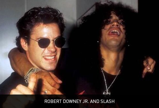 Robert Downey Jr. and Slash