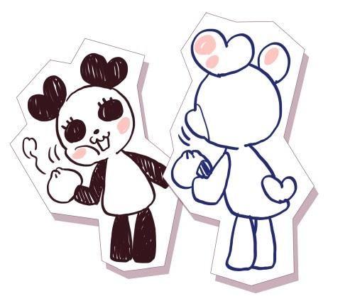 Kuro and shiro Panda