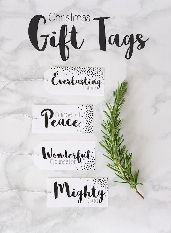 Christmas Gift Tags Printable // Free Download - Pure Sweet Joy