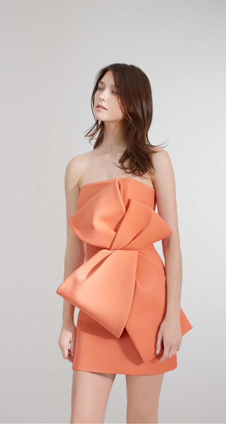 Strapless dress in neoprene - Dresses - Collection - New collection resort 16