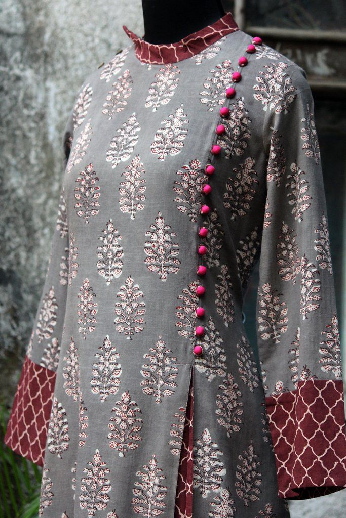 a-line dress - mughal delight & rose pop