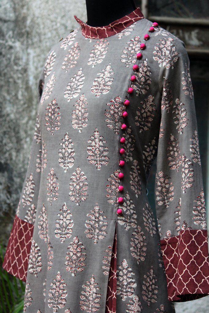 a-line dress - mughal delight & rose pop