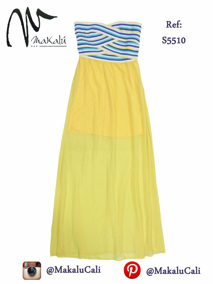 #vestidos #Modafemenina #amarillo #ropaamericana #makalu #makalucali #fashion #trendy #tendencia