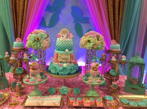 Mythical Mermaid Baby Shower Treat Table