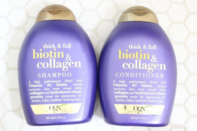 The Best Drugstore Shampoo & Conditioner | OGX Biotin & Collegen Shampoo & Conditioner