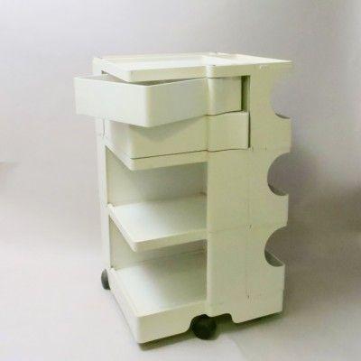 Located using retrostart.com > Boby B3/2 White Trolley by Joe Colombo for Bieffeplast