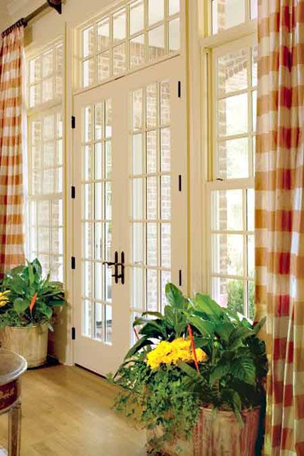 17 best images about transom window curtains on pinterest for Sliding glass doors that look like french doors
