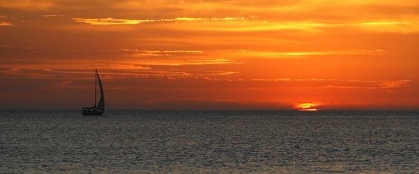 Sunset in Piriapolis, Uruguay