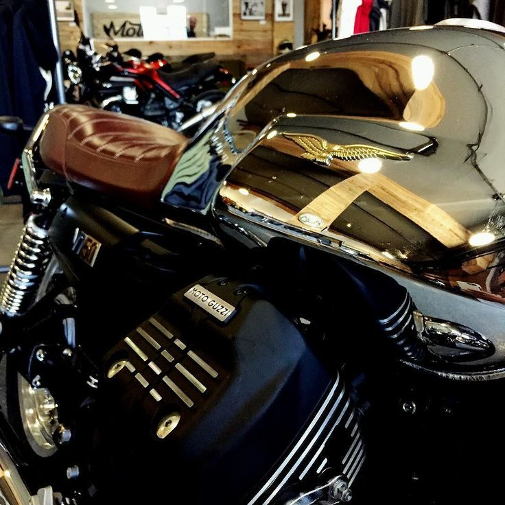 Mirror mirror .... Here's something to reflect on  Celebrating 50 years of V7 this limited edition (only 1000 produced) 2017 Moto Guzzi V7III Anniversario. # 499 of 1000 on display and for sale  @motovida  Message us for details! #motoguzzi #v7iiianniversario #50yearanniversary #celebrate #legend #1967 #2017 #motovida #lifeontwowheels #handcrafted #motorcycle #lifestyle #kelowna #vernon #penticton #okanagan #justride #youknowyouwantto #rideforlife #rideinstyle #rideyourway