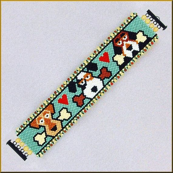 FETCH Fun Dog Peyote Bracelet Pattern by Kristyz on Etsy