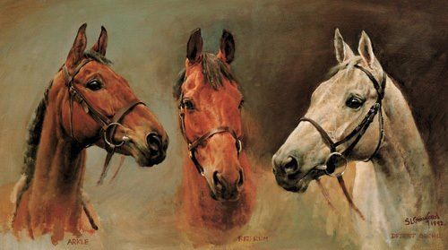 Susan Crawford  is probably best known for her painting 'We Three Kings' which depicts the race horses 'Arkle', 'Red Rum' and 'Desert Orchid'.