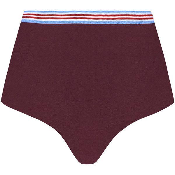 Rye Power Crop Bikini Bottom (3,940 EGP) ❤ liked on Polyvore featuring swimwear, bikinis, bikini bottoms, purple, high waisted swim wear, high waisted bikini, highwaist swimwear, bikini bottom swimwear and high rise swimwear