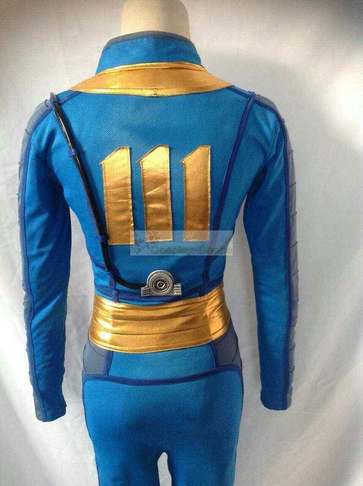 Custom Cheap Fallout 4 Sole Survivor Vault 111 Jumpsuit Cosplay Costume In Fallout 4 Sole Survivor For Sale Online- Cosplay-Shops.com