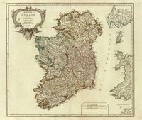 This is a really old and really cool historical map of Ireland from the year 1750 (told you it was really old!).