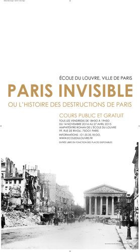 Affiche Ville de paris pour Ecole du Louvre