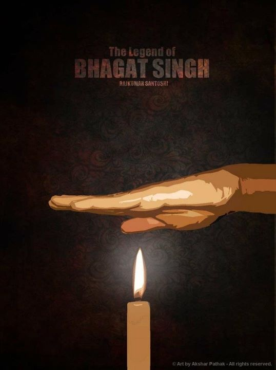 The Legend Of Bhagat Singh (2002) © Art by Akshar Pathak - All rights reserved.