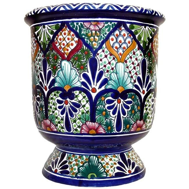 This Impressive Talavera Planter Embodies All The Charm Of Mexican  Talavera. Featuring Intricate Floral Patterns And Classic, Multi Colored  Designs, ...