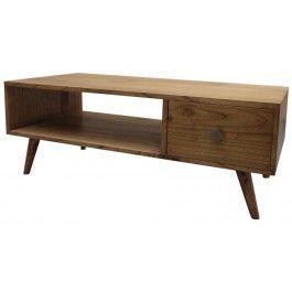 Tavolo basso in legno di cedro bianco  80x45x50 341€