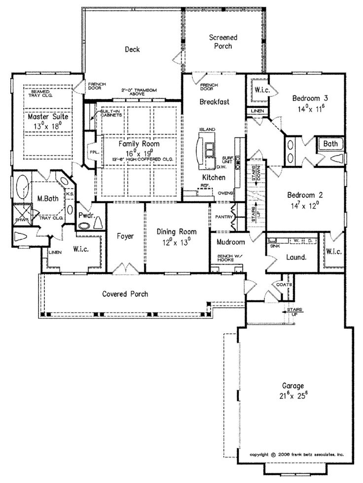 Craftsman Style House Plan – 3 Beds 2.5 Baths 2325…