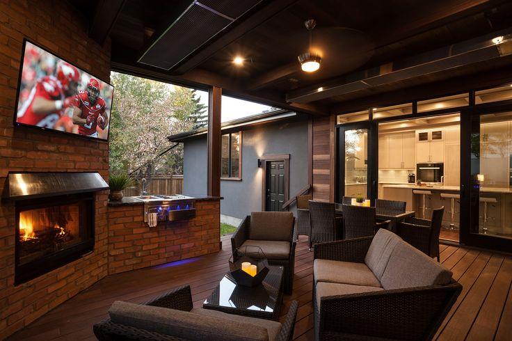 Fantastic Outdoor Room featuring Kayu Canada Inc. Red Balau Batu.