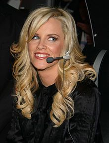 Jenny McCarthy(1972- )  an American model, television host, comedienne, actress, author, screenwriter and anti-vaccine activist. She began her career in 1993 as a nude model for Playboy magazine and was later named their Playmate of the Year. McCarthy then parlayed her Playboy fame into a television and film acting career. She is a former co-host of the ABC talk show The View.