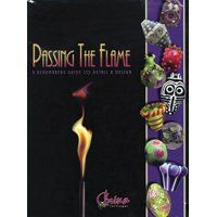 Passing the Flame: A Beadmaker's Guide to Detail and Design by Corina Tettinger. Lampworking is the art of creating glass beads from rods of molten glass on a mandrel using a small torch. These small pieces of glass art can be strung on a chain for necklaces, bracelets and earrings. (Review by LakeErieArtists on Wizzley)