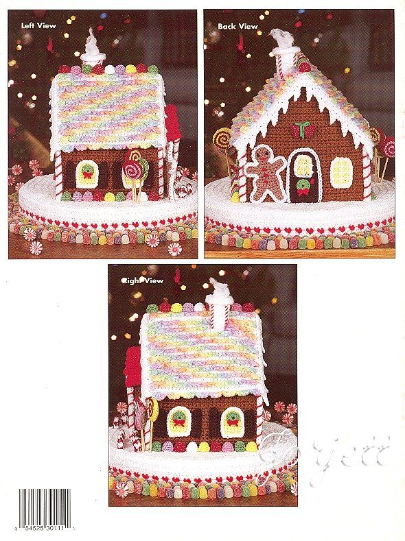 crochet gingerbread house pattern - Google Search