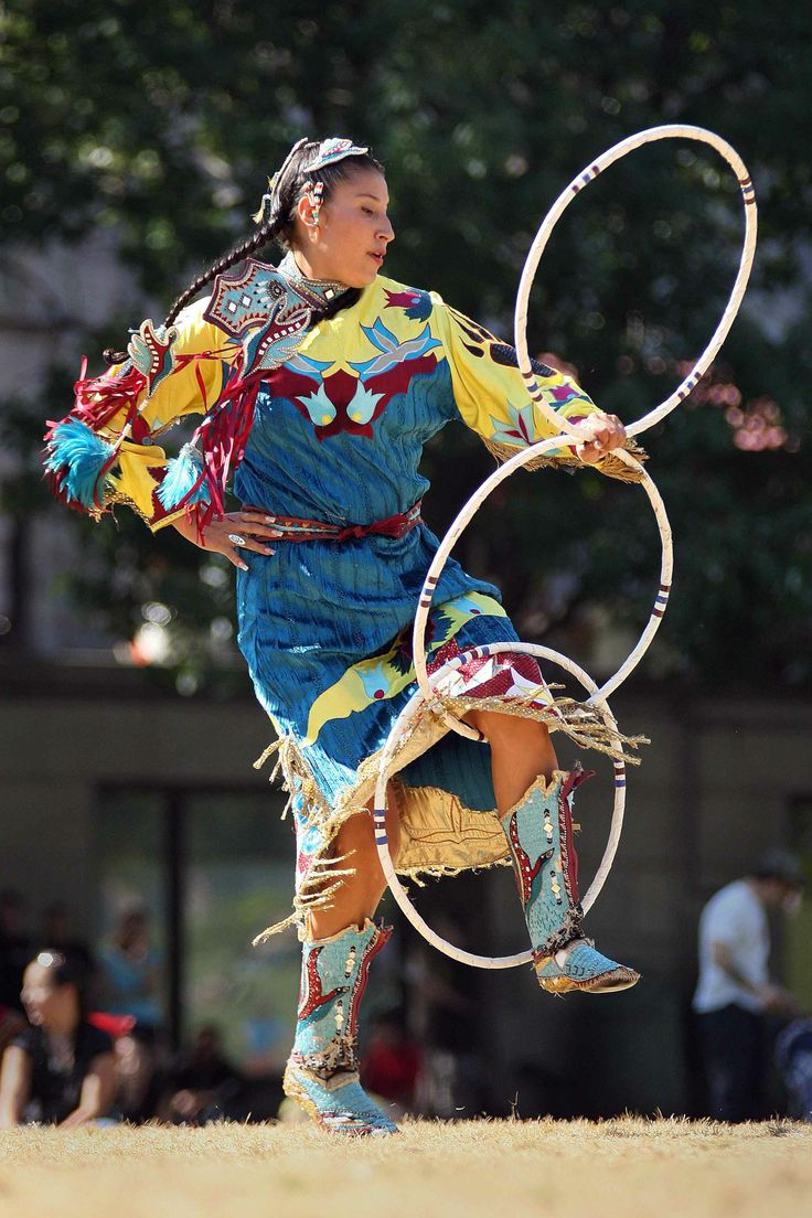 F F A F A A Ee A E Powwow Regalia Hula Hoop on Aztec Indian Dancers