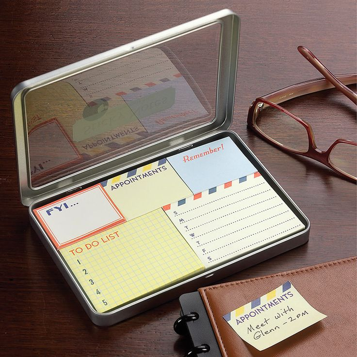 super cute & practical -  vintage style sticky notes, including to do post-it notes- by Levenger