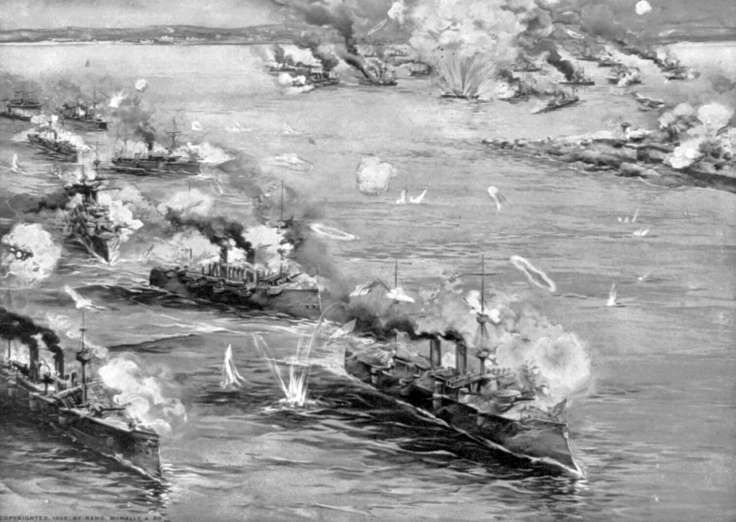 "May 1,  1898: THE BATTLE OF MANILA BAY  -    Commodore George Dewey gives the command, ""You may fire when you are ready, Gridley,"" as an American naval force destroys a Spanish squadron in Manila Bay during the Spanish-American War."