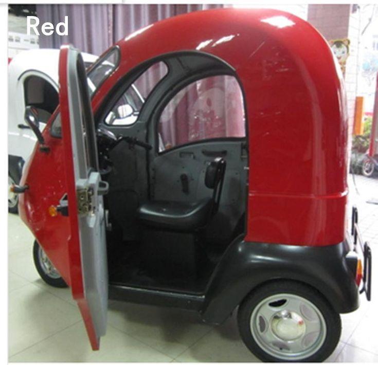 60V20AH1000W KYL Totally, заключенный электрический трицикл красный трехколесный велосипед электрический велосипед старости скутер электрический трицикл купить на AliExpress