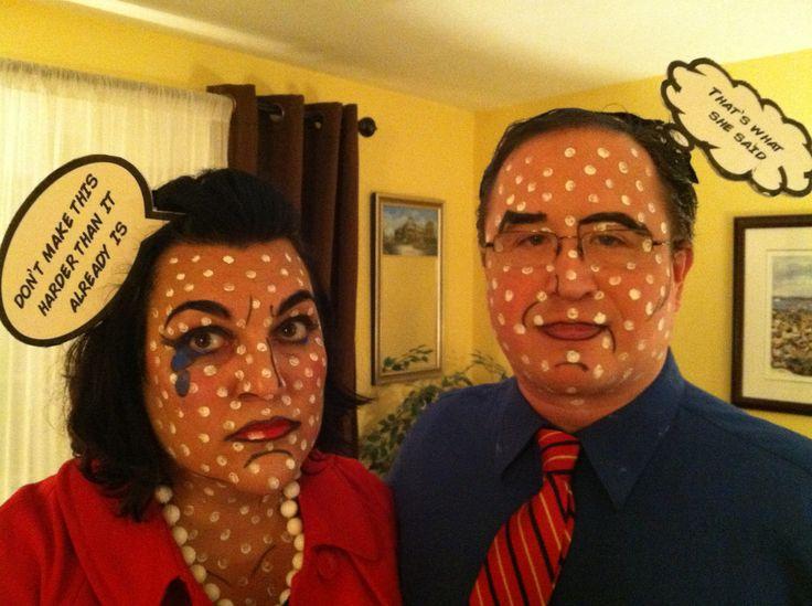 Roy Lichtenstein Halloween Costume.Pop Art Couple Costume Pop Art Couple Costume And Makeup