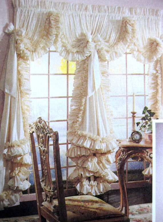 Good Fancy Cascading Ruffles Curtains Sewing Pattern Girls Or Formal Living Room  McCalls 5851