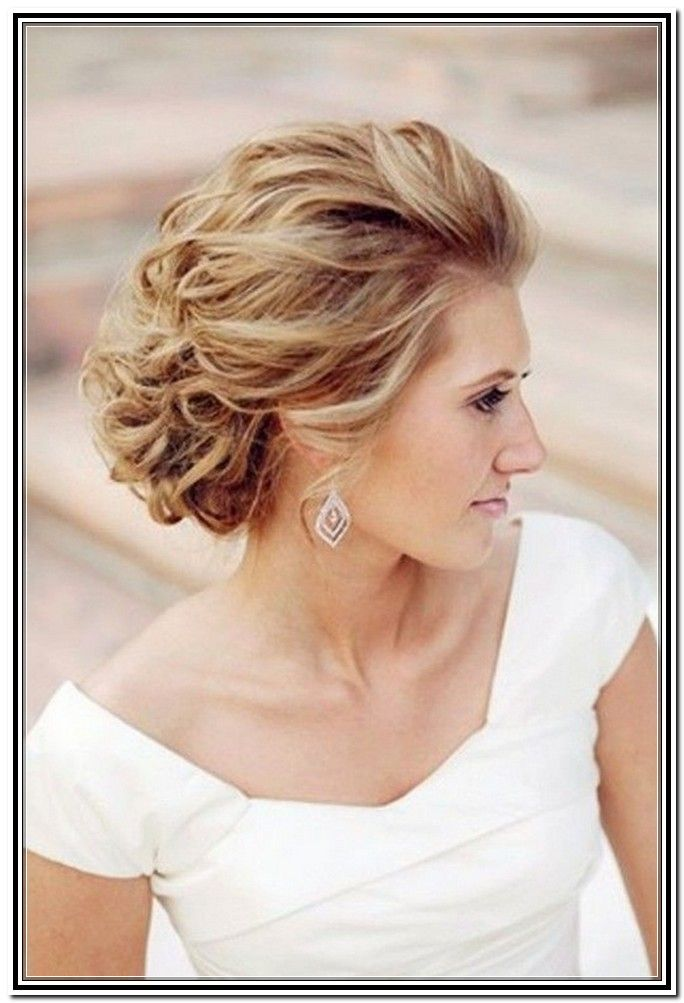 Medium Hair Updos for Weddings | Wedding Updos For Medium Length Hair Bridesmaid in Updos