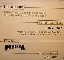 Hollow (Pantera song) - Wikipedia, the free encyclopedia