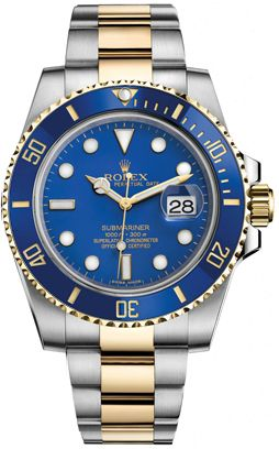Rolex Submariner Blue Men's Luxury Watch. IN STOCK ! SPECIAL PRICE ! Dial Color: Blue with Chromalight hands and hour markers. FREE Overnight Shipping !