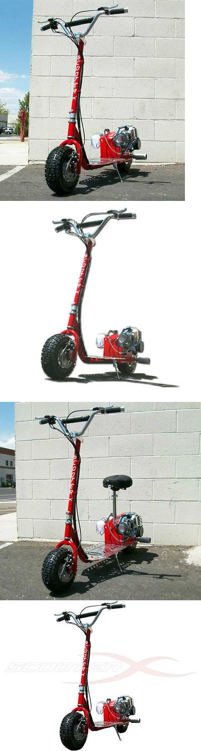 Gas Scooters 75211: New Scooterx Red Go Fast Motor Scooter 49Cc Gas Powered Big Power BUY IT NOW ONLY: $399.99