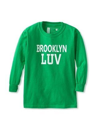 67% OFF Little Dilascia Kid's Brooklyn LUV Long Sleeve Tee (Green)
