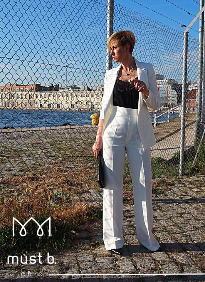 white fashionable classic suit
