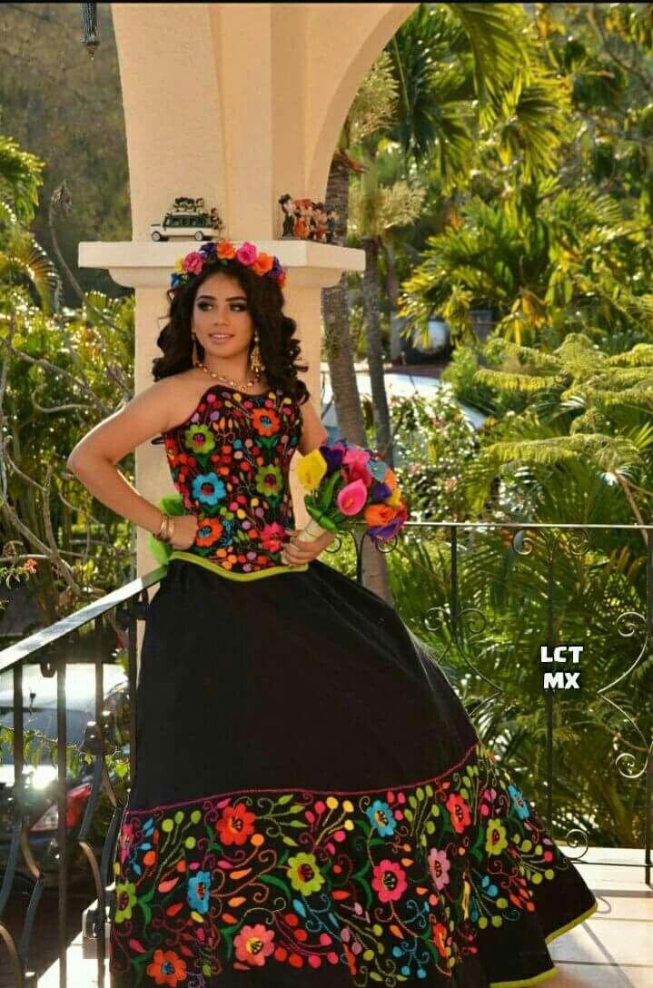 Quincena En 2019 Vestidos Mexicanos Para Niña Vestidos