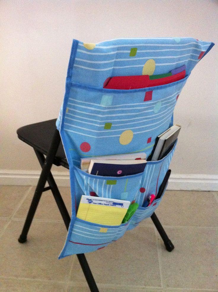 Student Chair Organizer | Utah's Crafty Chick: Sit-Upon & Chair Organizers
