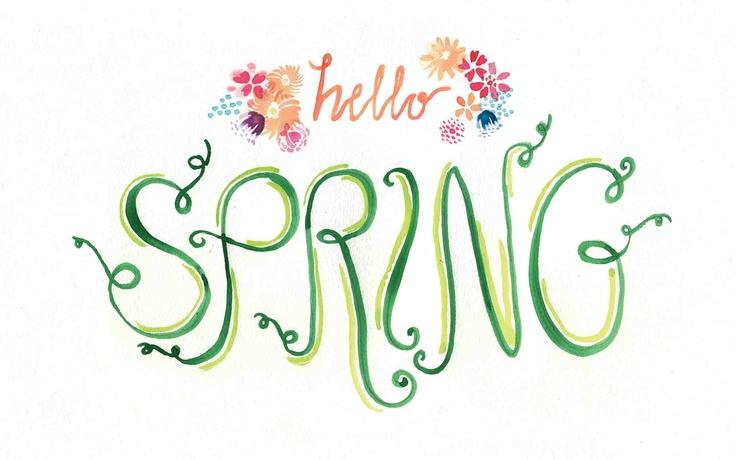 Hello Spring! Free computer wallpaper download at tinyinklings.com  Printabl...