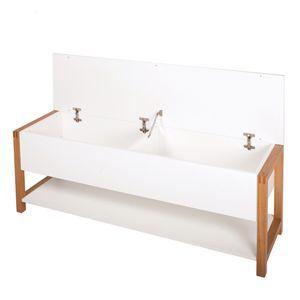 17 meilleures id es propos de banc coffre sur pinterest banc coffre bois - Coffre de rangement blanc laque ...