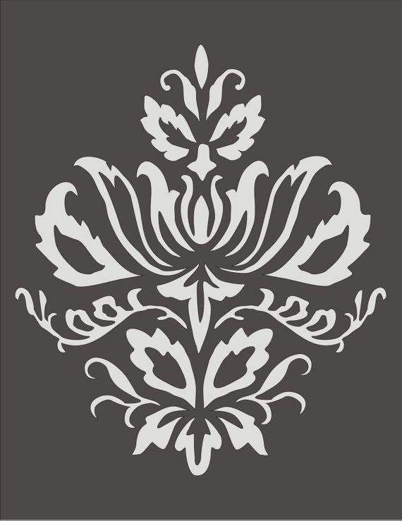 stencil floral design - Pesquisa Google