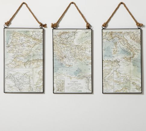 Map Triptych | Pottery Barn